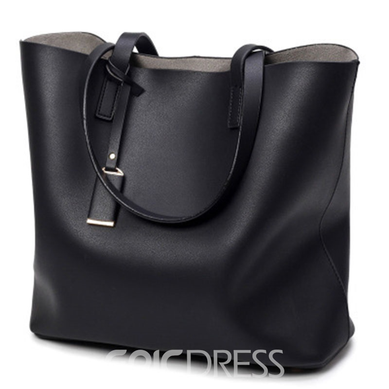 Ericdress Casual Solid Color Women Tote Bag