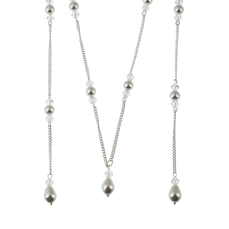 Ericdress Concise Pearl Pendant Long Backdrop Necklace