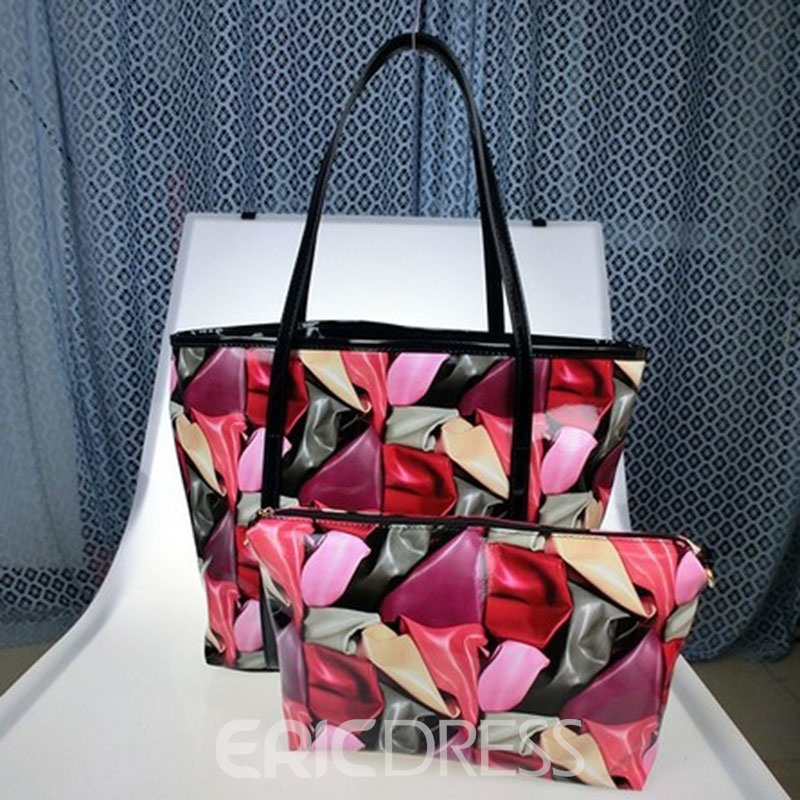 Ericdress Trendy Printing Zipper Handbag(2 bags)