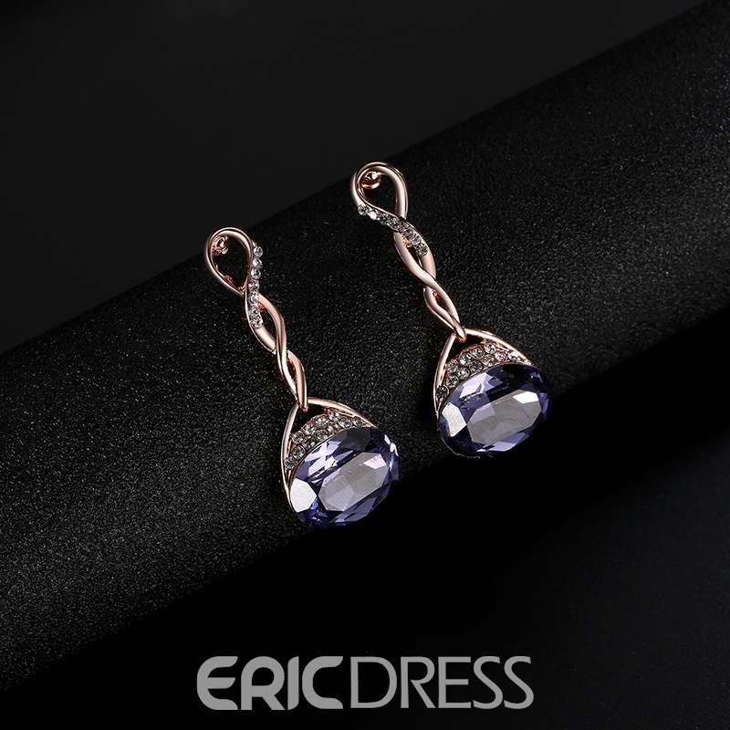 Ericdress Oval Cut Amethyst Ultra Violet Jewelry Set