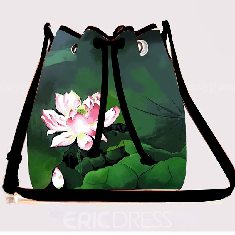 Ericdress Artistic Scenery Print Draw String Crossbody Bag