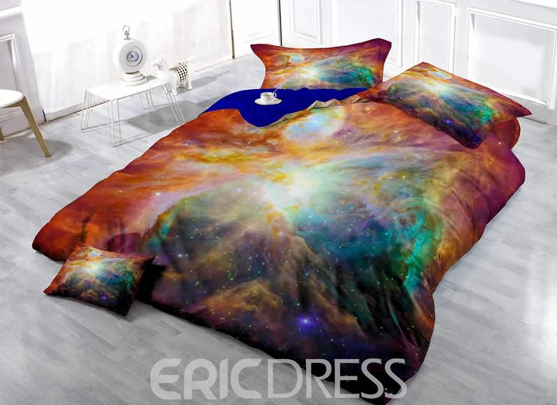 3D Galaxy Digital Printing Cotton 4-Piece Bedding Sets/Duvet Covers