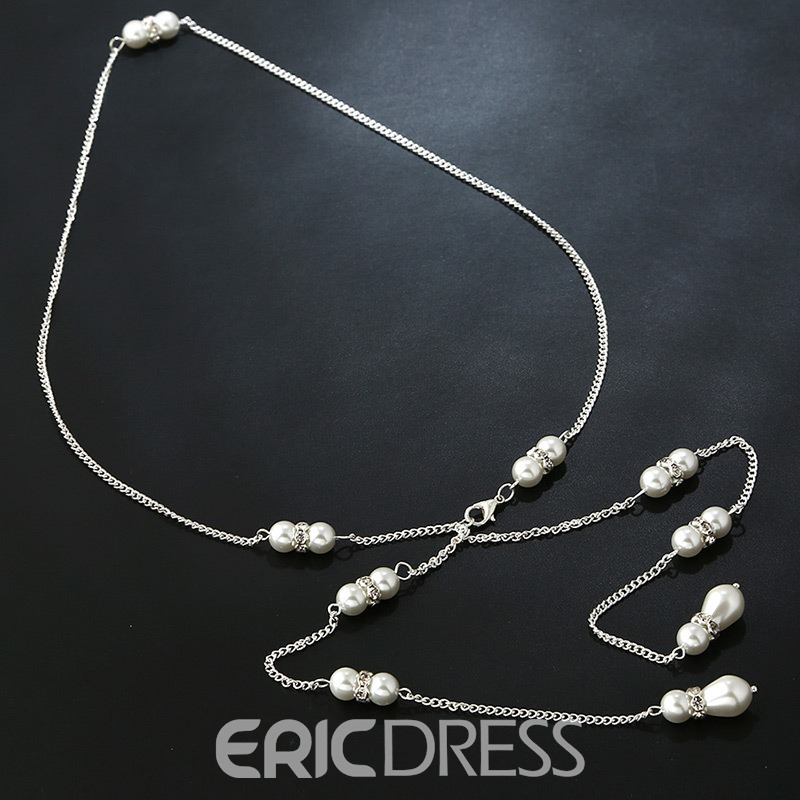 Ericdress Long Diamante Backdrop Necklace for Women