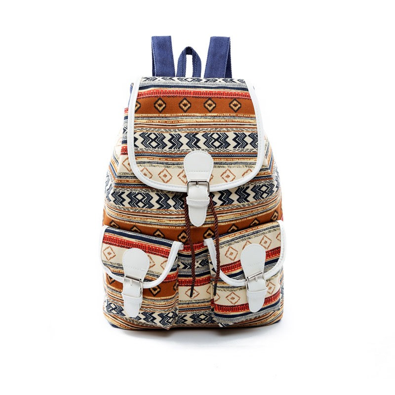 Ericdress National Style Printing Canvas Bagpack
