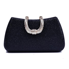 Ericdress Solid Color Diamond Evening Clutch