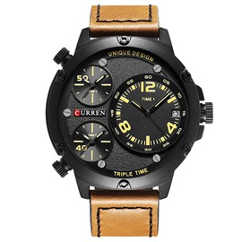 Ericdress JYY New Style Three Time Zone Display Men's Watch