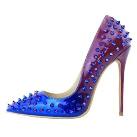 Ericdress Gradient Color Rivets Decorated Point Toe Pumps
