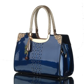 Ericdress Trendy Hollowed Patent PU Handbag
