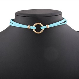 Ericdress Concise PU Choker Necklace