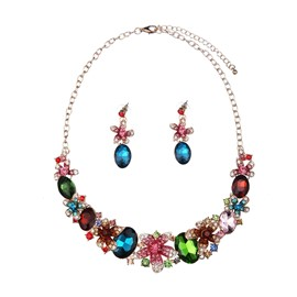 Ericdress Colorful Rhinestone Jewelry Set for Women