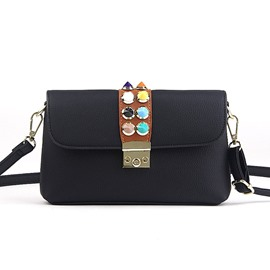 Ericdress Korea Style Latch Adornment PU Crossbody Bag