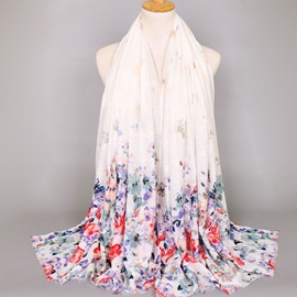 Ericdress Cotton Floral Print Scarf for Women