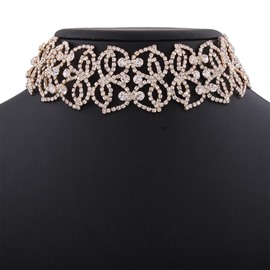 Ericdress Diamante Hollow-Out Choker Necklace