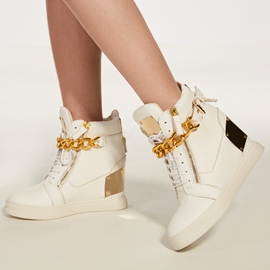 Ericdress Sequin Lace-Up High-Cut Women's Sneakers