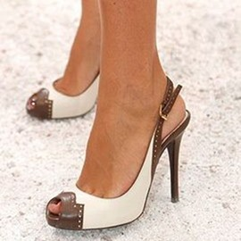 Ericdress Color Block Peep Toe Heel Sandals