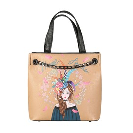 Ericdress National Style Printing Chain Crossbody Bag