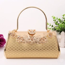 Ericdress Graceful Knitted Design Diamond Clutch