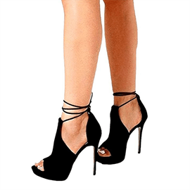 Ericdress plattform lace-up peep toe Fersensandalen