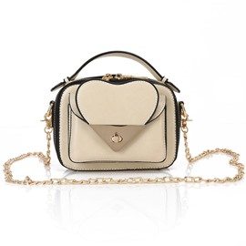 Ericdress Heart-shaped Design Chain Crossbody Bag