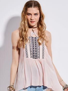 Ericdress Bohoartist Spaghetti Straps Embroidery Tank Top