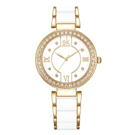 Eridress Exquisite Diamante Case Jewelry Claps Women's Watch