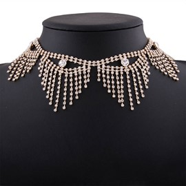 Ericdress All Match Diamante Choker Necklace for Women