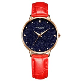 Eridress Fashion Quartz Leather Band Waist Watch for Women