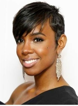 Ericdress Human Hair Short Capless African American Wigs 6 Inches