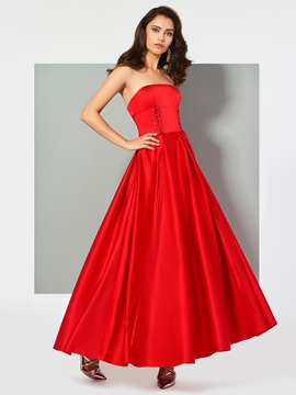 Ericdress A Line Strapless Ankle Length Evening Dress