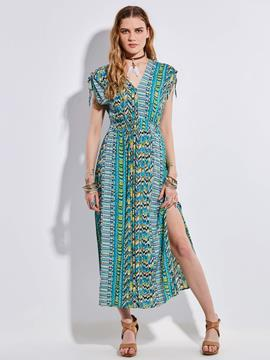 Ericdress Bohoartist Sleeveless Geometric Pattern Print Maxi Dress