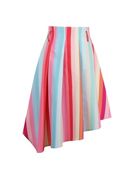 Ericdress A-Line Striped Women's Skirt