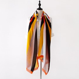 Ericdress Contrast Color All Match Long Scarf