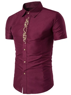 Ericdress plain Kurzarm Vogue Stickerei Herren-Shirt