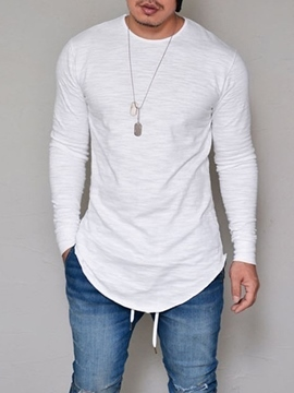 Ericdress Plain Crew Neck Men's T-Shirt