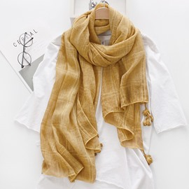 Ericdress Cotton Tassel Bandhnu Scarf for Women