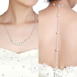 Ericdress Long Tassel Imitation Pearl Diamante Women's Backdrop Necklace