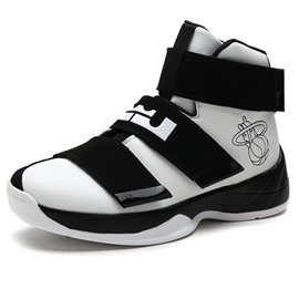 Ericdress Patchwork High Top Velcro Men's Basketball Shoes