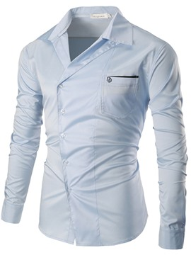 Ericdress Vogue Design Long Sleeve Pocket Slim Men's Shirt