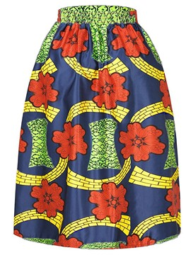 Ericdress High-Waist Print Ball Gown Skirts