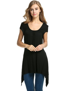 Ericdress Round Neck Mid-Length T-Shirt