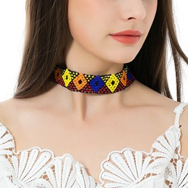 Ericdress Contrast Color Beads Choker Necklace