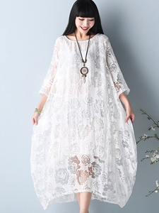 Ericdress See-Through Lace Asymmetrical Casual Dress