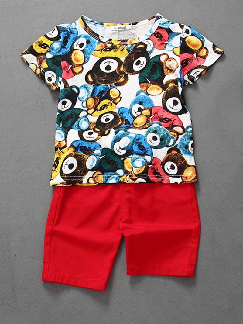 Ericdress_Bear_Print_TShirt_And_Pant_2Pcs_Boys_Summer_Outfit