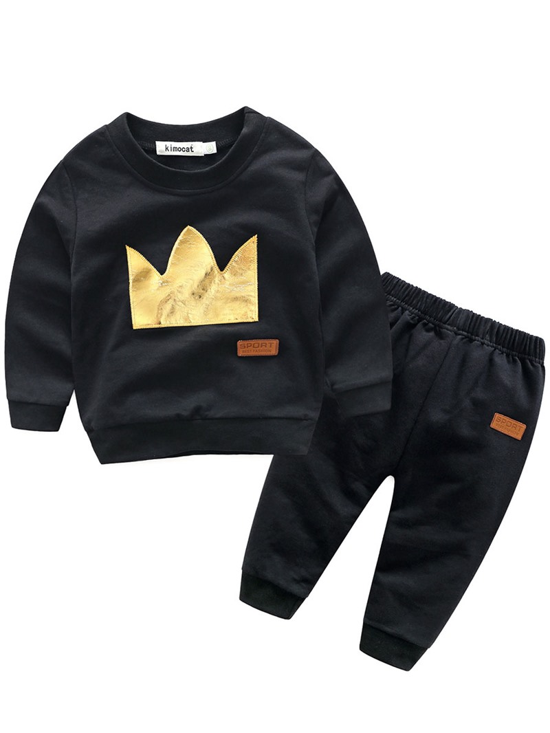 Ericdress_Crown_Pattern_Long_Sleeve_And_Pant_Baby_Boys_Fall_Outfit