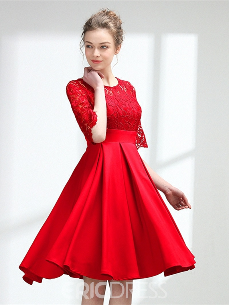 Ericdress A-Line Lace Knee-Length Homecoming Dress