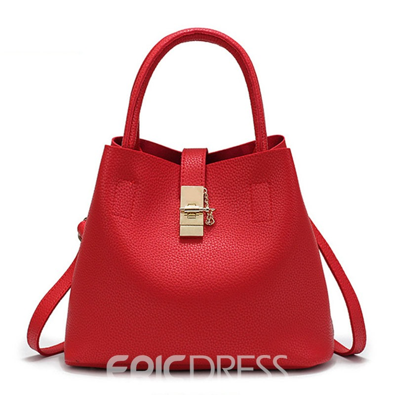 Ericdress Concise Bucket Shape Crossbody Bag