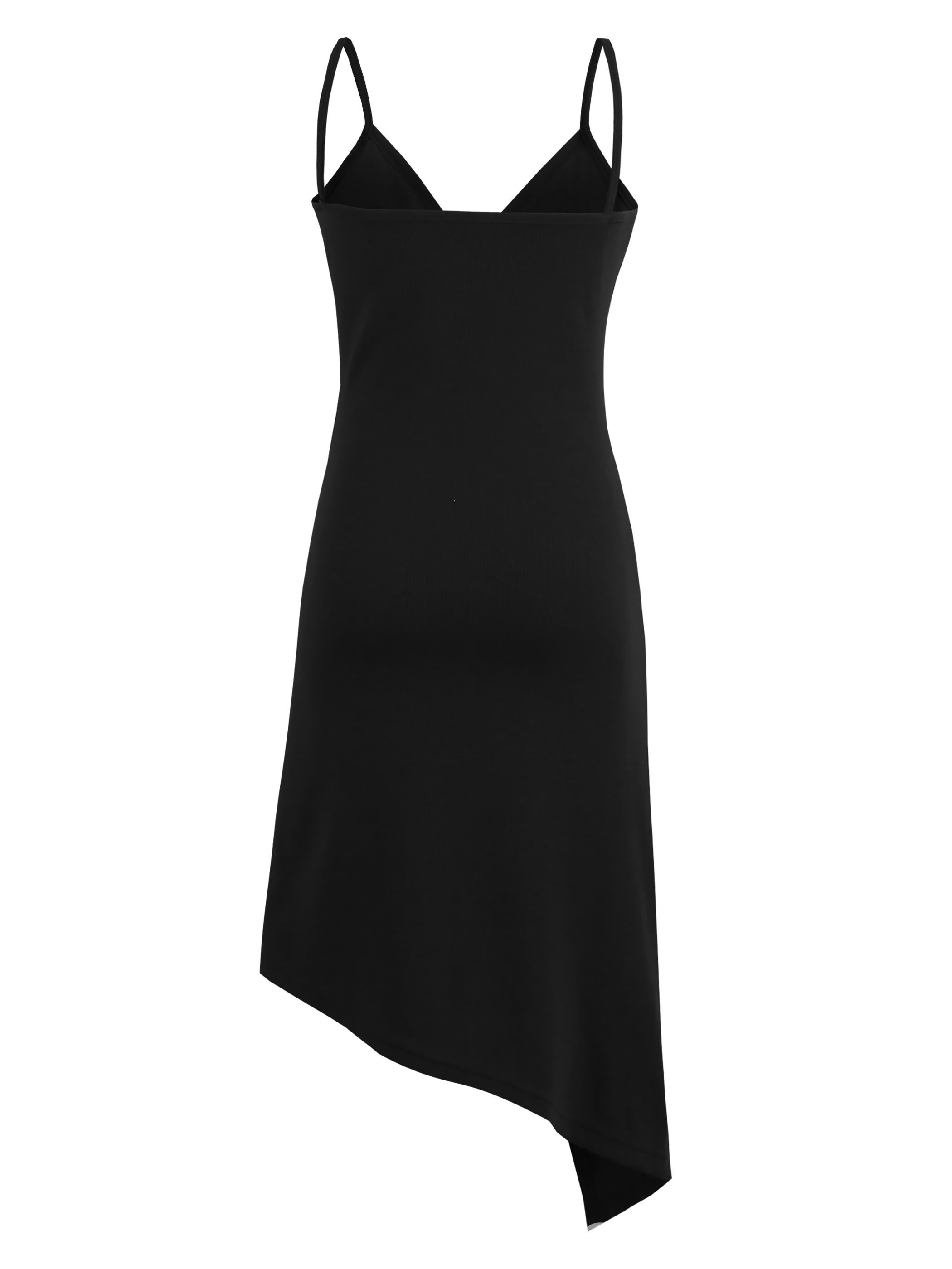 Spaghetti Strap Asymmetric Women's Day Dress
