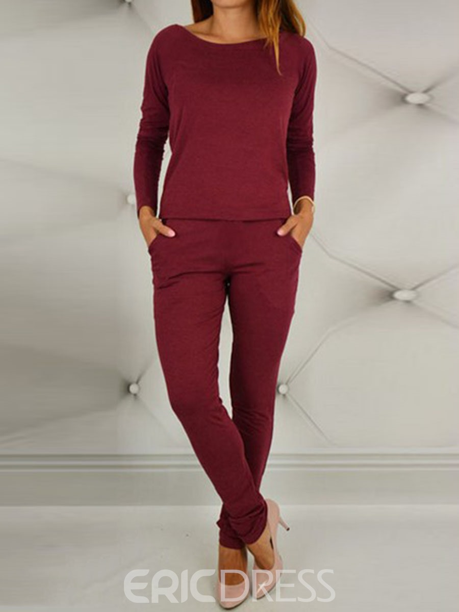 Ericdress Loose Shirt and Pants Women's Suit
