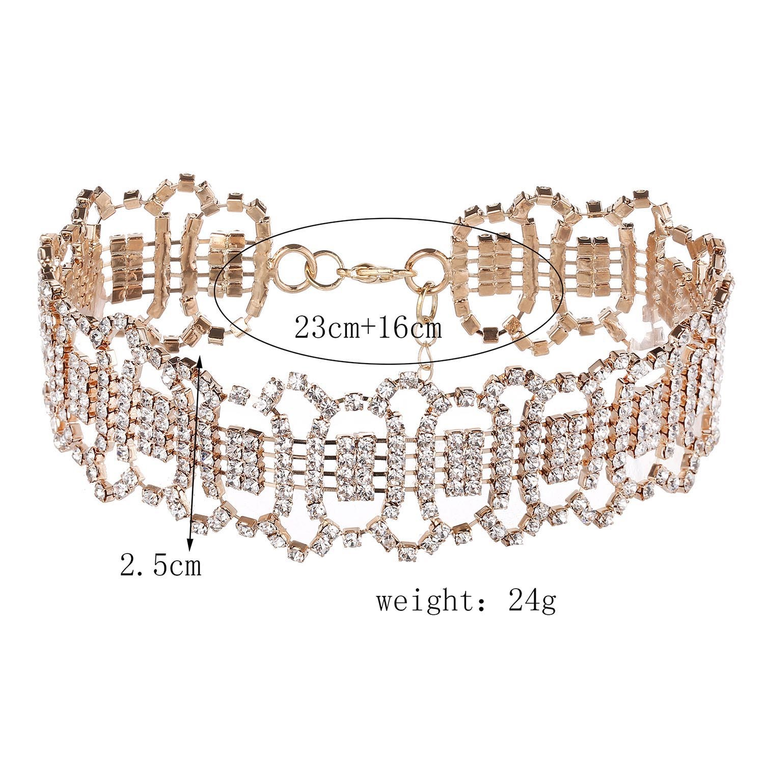 Ericdress Fully-Jewelled Choker Necklace