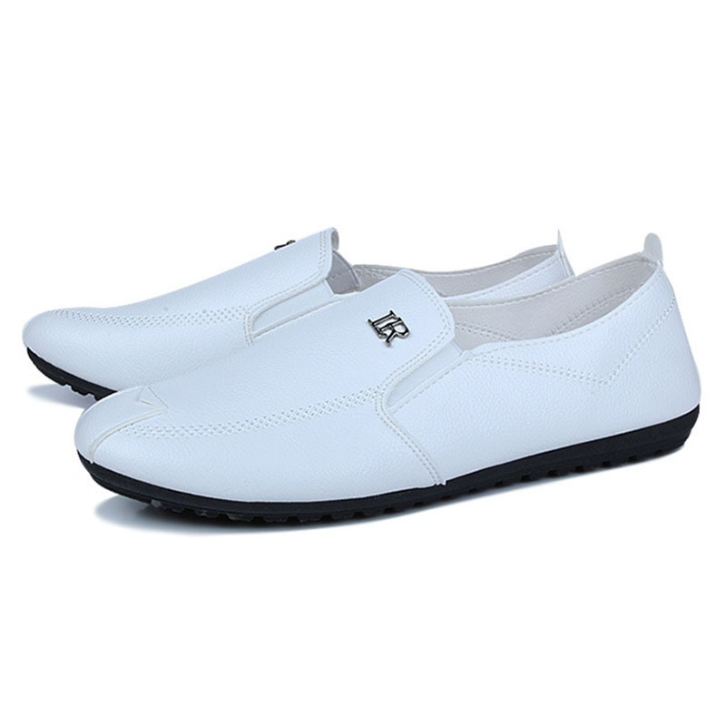 Ericdress PU Solid Color Men's Moccasin Gommino